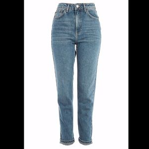 Topshop Mom Jeans in Authentic Wash